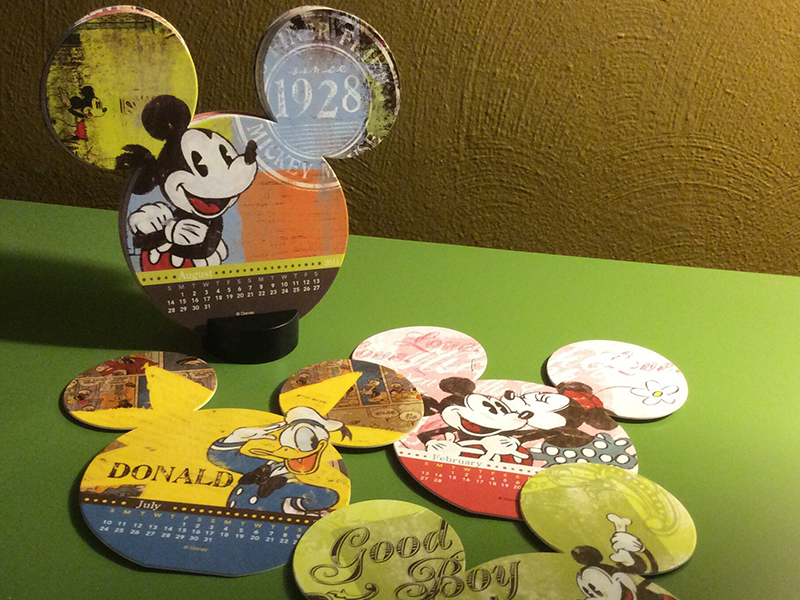 Desktop Calendar (2011) mickey  friends consumer calendar die-cuts home  stationery