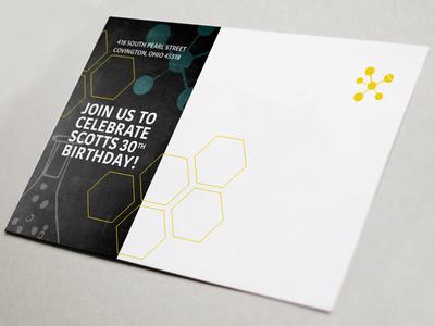 Postcard Birthday Invite
