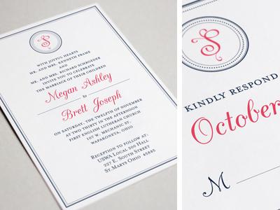 Monogram Wedding Invitation