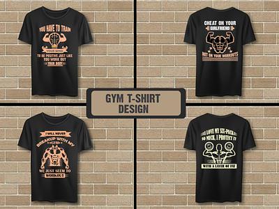 Gym t shirt bundle workout fitness vector art design bundle gym