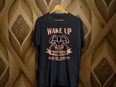 Workout t shirt mockup workout fitness art vector design t shirt