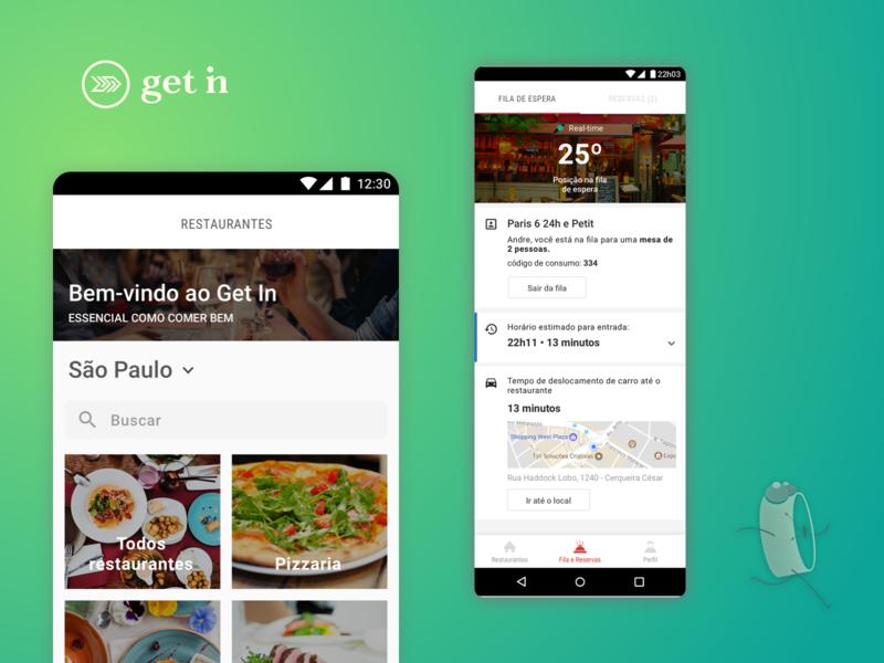 Android app logo illustration android branding interaction restaurant startup ui design design system interface
