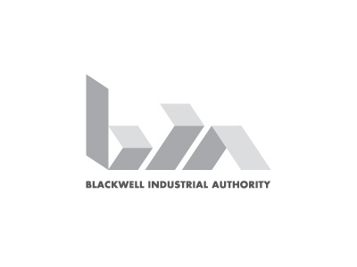 Logo Bia Dribbble logo branding industry authority economic development modular geometric metal steel iron futura