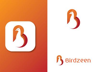 B Letter Logo Design letter mark letter negative space peacock bird shop modern illustrator letter b b letter ui logo illustration digital design creative company branding brand app