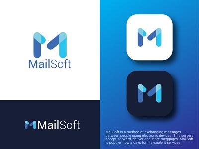 M Letter Mail Logo Design best illustrator letter mark lettering letter m letter mail modern 3d graphic design ui logo illustration digital design creative company branding brand app