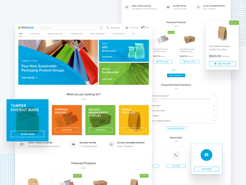 Packaging Company   Homepage Design