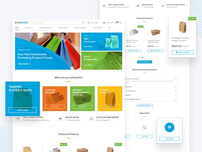 Packaging Company | Homepage Design sketch ux design ui design homepage ecommerce packaging