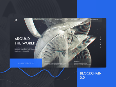 Blockchain web 3.0 etherium app bitcoin crypto currency blockchain ico inteface website site service animation web vector ux ui typography minimal illustration design