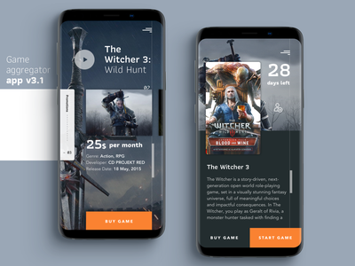 Mobile app for game aggregator project type illustration vector animation service game mobile app design app mobile app icon ui ux typography minimal design