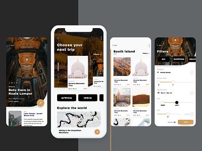 Travel Application interface travel training app mobile app design mobile app mobile ux ui design