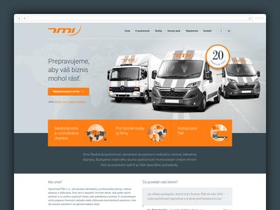 TMI bootstrap adobe fireworks fireworks roboto web responsive orange transportation transport car