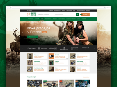 Polovnicky raj fireworks nature woods orange green guns hunter hunting store e-shop web ecommerce