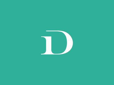 ID logo  teal green id typography logo