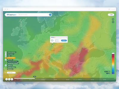 VentuSky fireworks ui interactive map weather sky