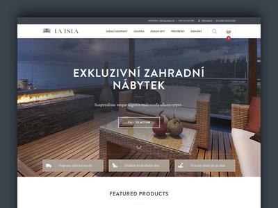Laisla rattan ratan blue dark beige exclusive furniture garden ecommerce web