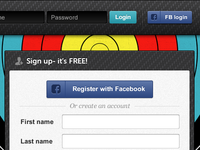 Sign up and login forms