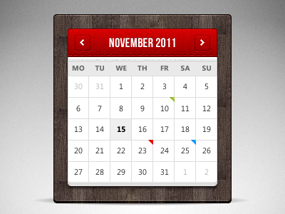 Free Calendar Template By Marek Levk Dribbble