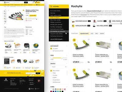 eCommerce slovakia kitchen home black yellow webdesign web ecommerce