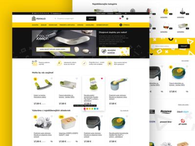 Peknuo accessories house web yellow black store eshop ecommerce