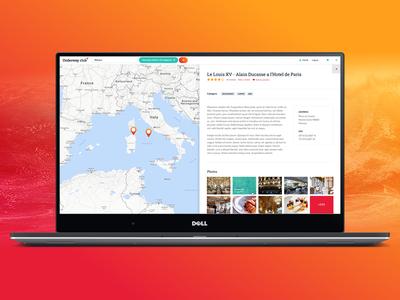 Underwayclub red gradient orange interactive sports yacht vacation places travel google map