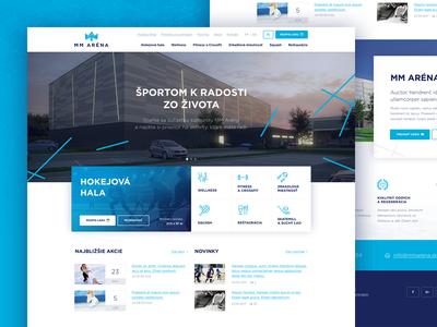 MM Arena clean blue website web slovakia winter sport ice hockey arena