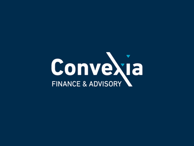 Convexia slovakia branding identity brand teal blue advisory finance logo