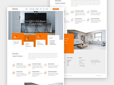 Stavea architect black black  white orange website webdesigner webdesign ui web design