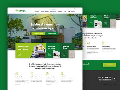 Dinex web  design adobexd futura constructor house construction building green webdesigner webdesign design
