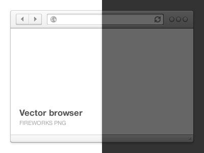 Browser freebie free fireworks png browser vector safari chrome adobe psd