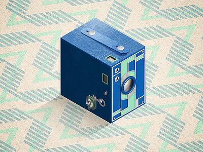 Kodak Brownie Beau - History of Cameras illustrator isometric photography camera brownie kodak