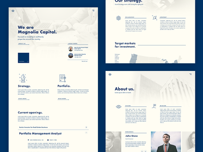 Redesign concept for real estate company (WIP) wip redesign brand graphic simple icons visual design web