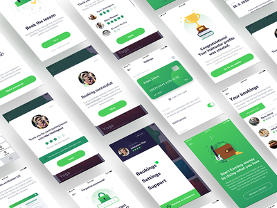 Design for skill-sharing app ux visual simple sharing ui platform hobby design app