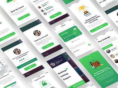Design for skill-sharing app ux visual simple sharing ui platform hobby design app