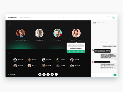 Conference call app UI simple calls company team recording voice call conference ui app
