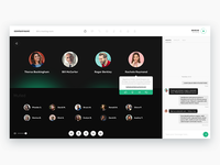 Conference call app UI