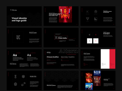 Visual Identity for World of Franz Kafka kafka contrast dark identity visual design branding