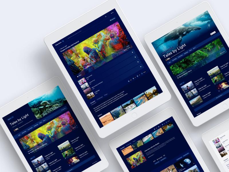Show and episode details visual video ux ui show platform online media episode draft detail design content