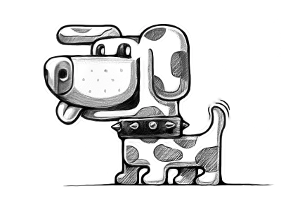 Woof mobile collar wool ios sketch dog characters cute loggia sketchbook game puppy