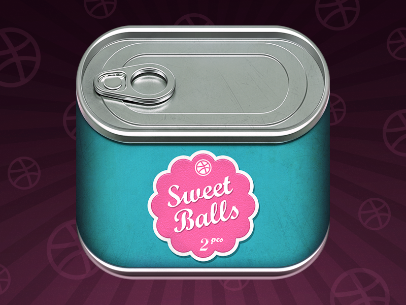 Invites tincan ios can icon tin eat loggia invite metal label conserve dribbble