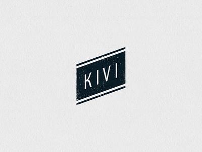 KIVI Logo Version grunge black stationery custom watermark stylize flag sign stamp ink guidelines minimal
