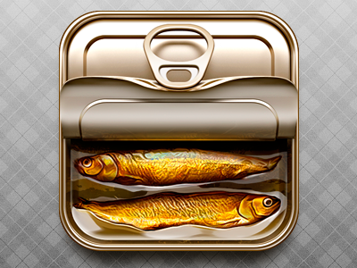 Tin can fish tincan icon ios metal oil sketch tin can conserve can tin eat food kipper smoked loggia