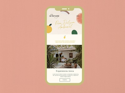 Very Ambrosial Website design web minimal clean illustration art branding website graphic design logo