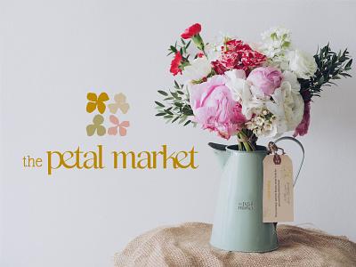The Petal Market Branding minimal icon typography logo design illustrator graphic design illustration branding art