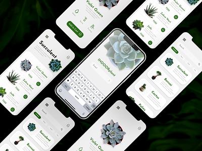 Indoor Plants App xd ui deisgn