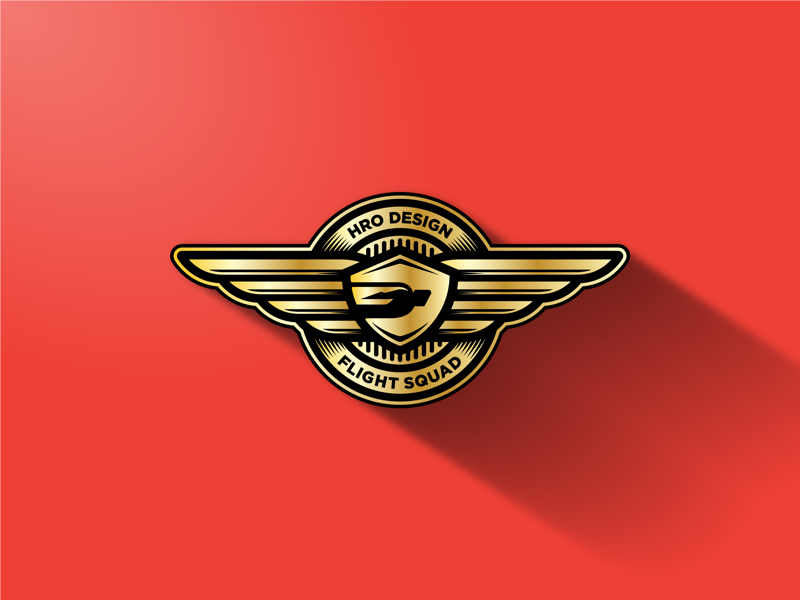 HRO Flight Squad logo icon badge vector illustrator flight wings