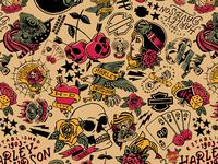 Harley-Davidson Tattoo Pattern