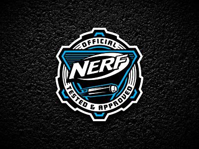 Nerf Offical Badge toy gun blaster dart official vector logo badge nerf