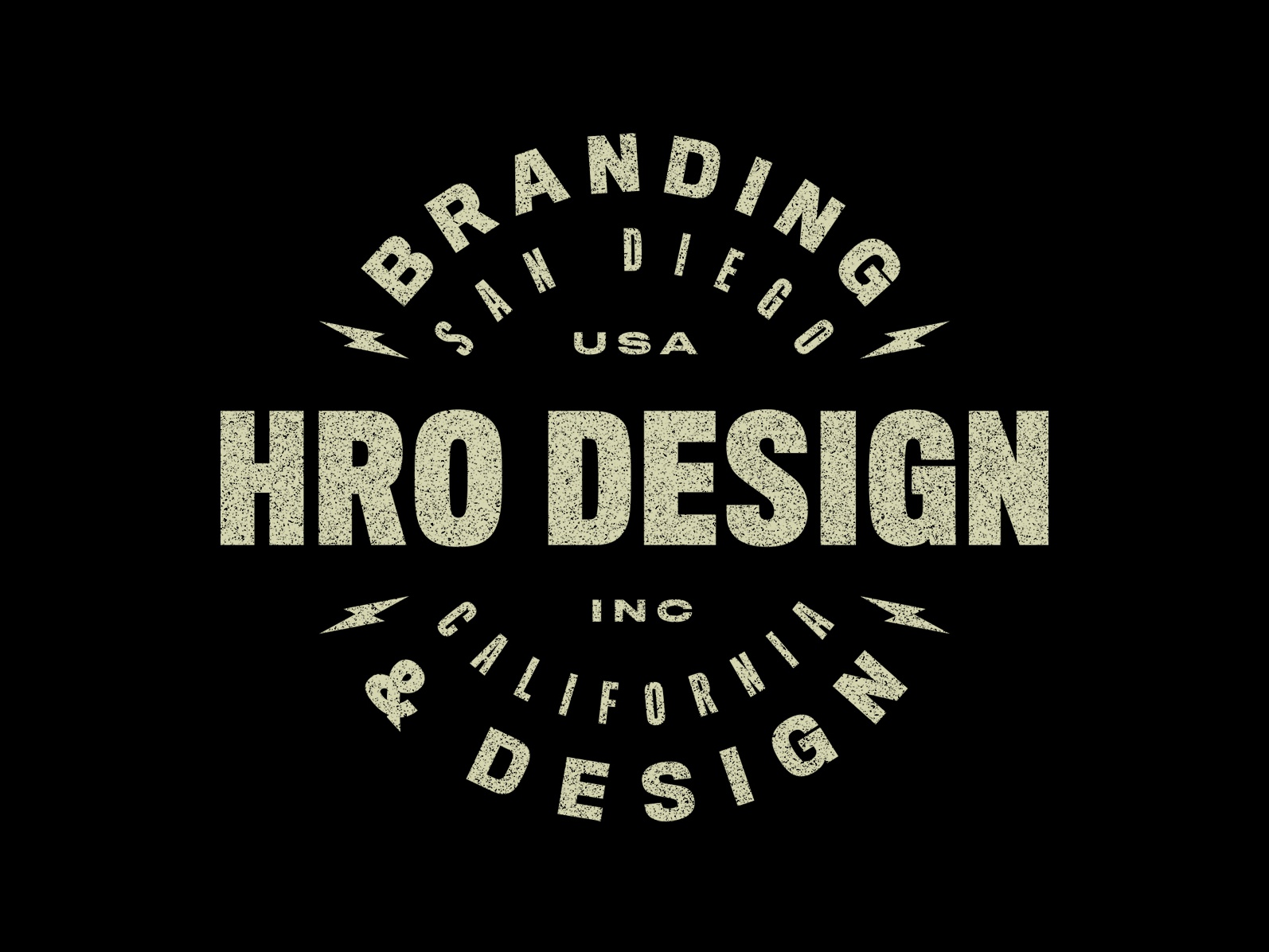 HRO Branding & Design studio apparel bolt typography type badge art design branding logo