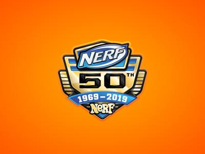 Nerf 50th Badge