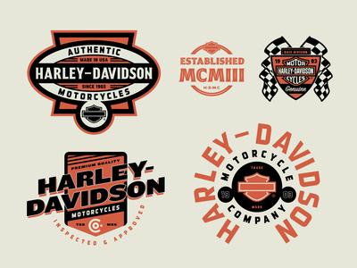Harley-Davidson Travel Badges Part 1